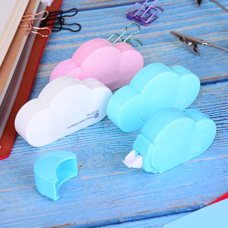 Cartoon Candy Color Cloud Correction Tape School Chancery 5M Stationery Store Corrector Tape Creative Material For Kids