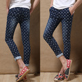 Men's Printed Fashion Design Jeans Pants Hot Style Pattern Skinny Slim Clubwear Pant  Trousers