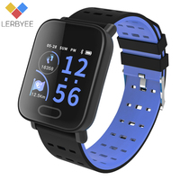 Lerbyee L3 Smart Heart Rate Monitor Watch Waterproof Blood Oxygen Fitness Tracker Blood Pressure Smart Bracelet Men Black Watch