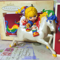 Box Toy Original Garage Kit 10cm Rainbow Brite and Twink Doll On Hourse Action Figure Collectible Model Loose Toy Gifts