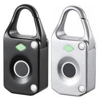Small Alloy Fingerprint Padlock Smart Lock Backpack Suitcase File Cabinet Jewelry Box Lock
