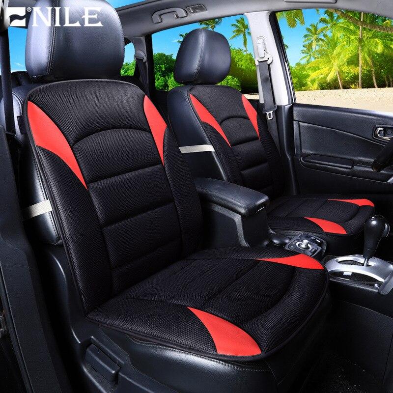 Nilo Universal cubierta de asiento de coche de Color de alta calidad automotriz cubiertas de asiento de coche tela respirable para coche cuatro temporada cubre