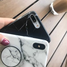 SUYACS Marble Pattern Kickstand Phone Case For iPhone X 6 6S 7 8 Plus Fashion IMD Soft Protective Phone Back Cover Case Coque