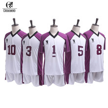 ROLECOS Anime Haikyuu Cosplay Third Season Shiratorizawa Gakuen Koukou Cosplay Costume Wakatoshi Ushijima Cosplay Costume Men(China)
