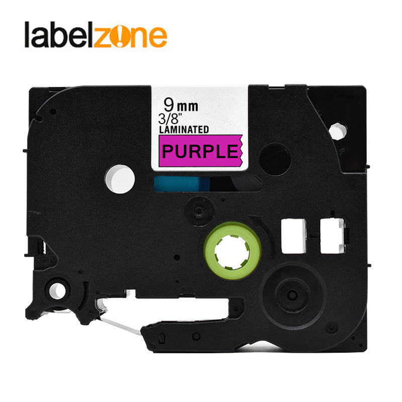 9mm Black On Purple Tze P21 Compatible Brother P Touch