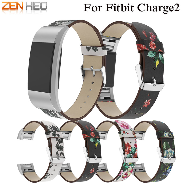 Replacement For Fitbit Charge 2 Bands Leather Straps Band Smart Fitness Watch Printing Bracelet Wrist Strap For Fitbit Charge 2 in Smart Accessories from Consumer Electronics