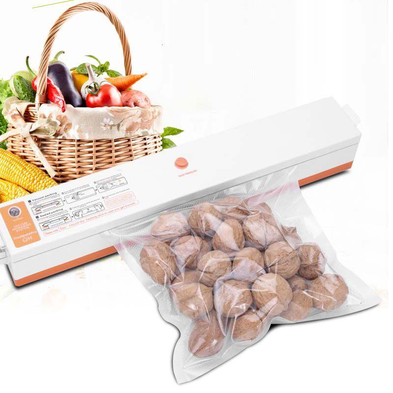 EU UA 220V Household Food Vacuum Sealer Packaging Machine Film Sealer Vacuum Packer Including 15Pcs Bags