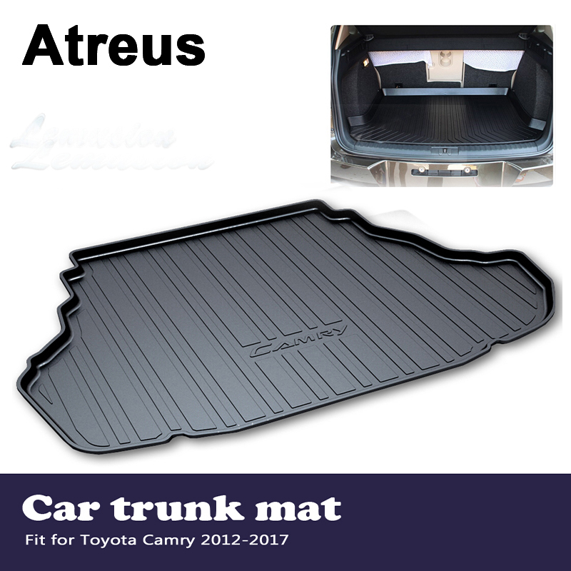 Atreus Car Accessories Waterproof Anti-slip Trunk Mat Tray Floor Carpet Pad For Toyota Camry XV50 2012 2013 2014 2015 2016 2017 цена