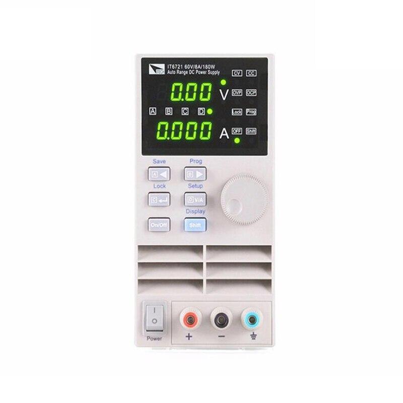 ITECH IT6721 professionnel automatique gamme contrôle numérique DC alimentation 60 V/8A/180 W