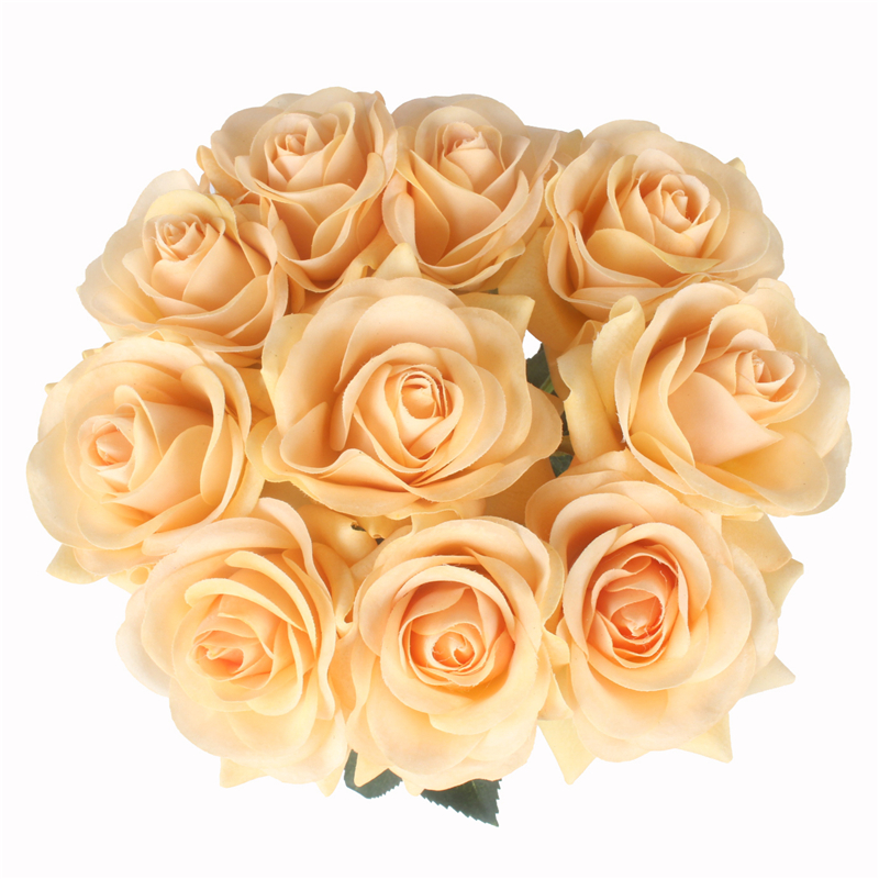 JAROWN Artificial Real Touch Hand Feel Rose Flowers For Valentine`s Day Preparation Wedding Decoration Home Decor (16)