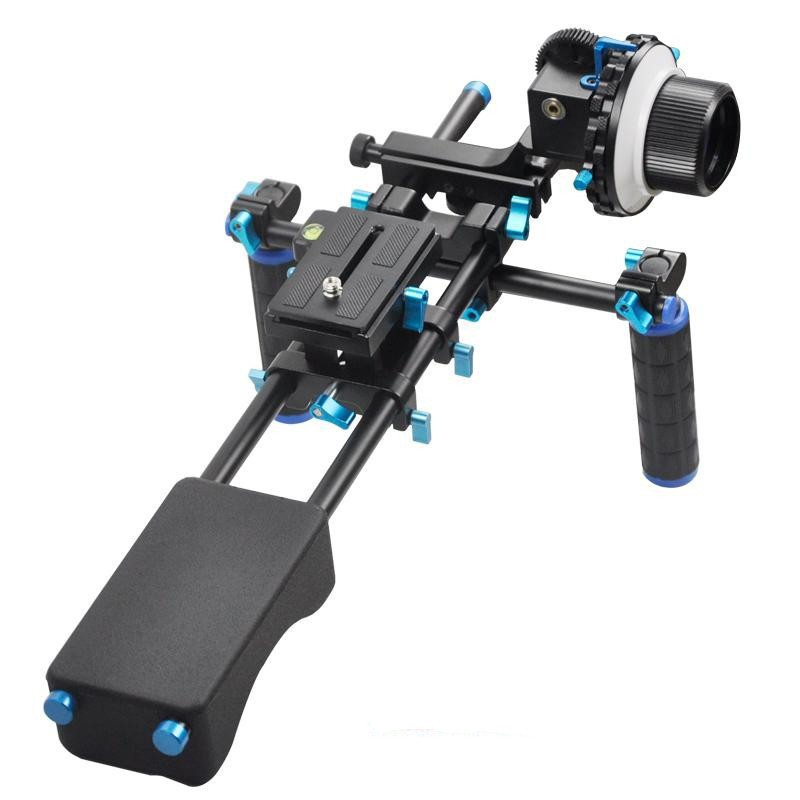 Aluminum Alloy Handgrip Holder DSLR Rig Shoulder Mount Movie Kit Set Camera Stabilizer Dslr Rig Easy For Shooting Camera ylg0102h dslr shoulder mount support rig with camera camcorder mount slider shoulder lift set double hand handgrip holder set