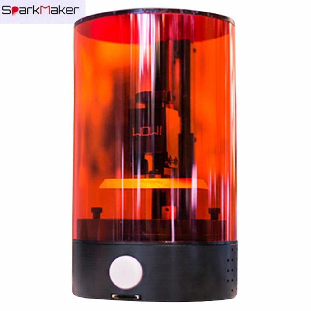Accewit D'origine SparkMaker SLA UV 3D Imprimante Mini De Bureau HD DLP LCD Hors Ligne D'impression Coloré Résine 98x55 x 125mm avec SD carte