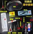 Oftalmología médico cirugía plástica cosmética set pinzas y tijeras y regla y hilo conjunto de herramientas