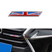 Aluminum JDM 3D Union Jack UK Flag Emblem Badge Car Front Grille Fender Trunk