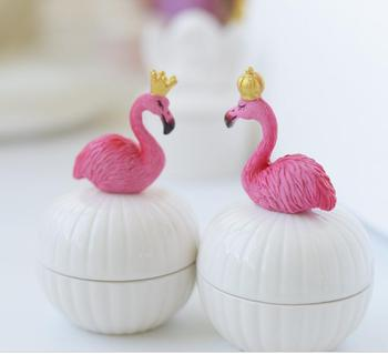 5PCS Lovely flamingos candy box wedding gift box candy packing free shipping