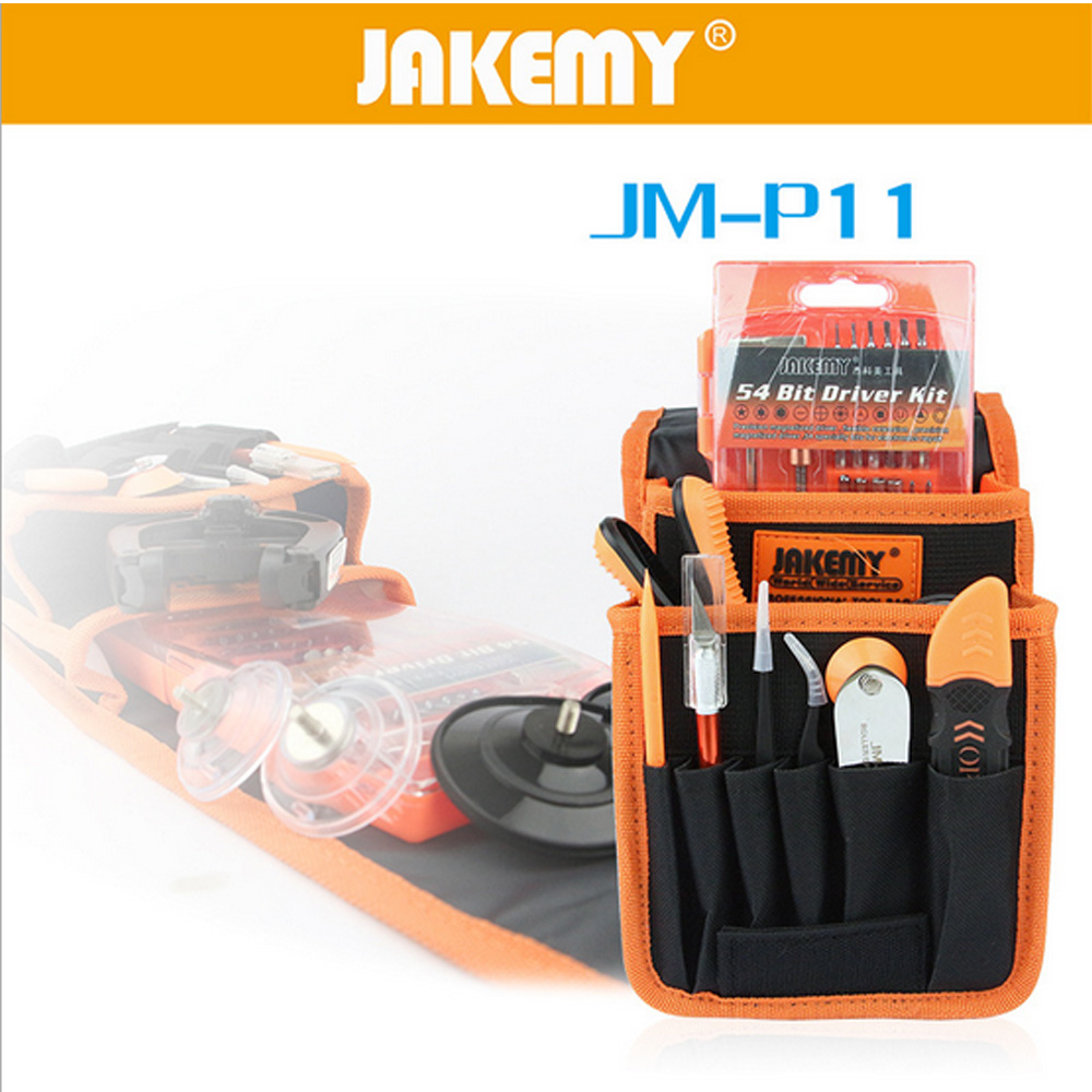 JAKEMY JM-P11 Screwdriver Bits Set Pentalobe 0.8 1.2 1.5 Mobile Phone Repair Tools Kit LCD Seperator Pliers Tweezers Opening Bar