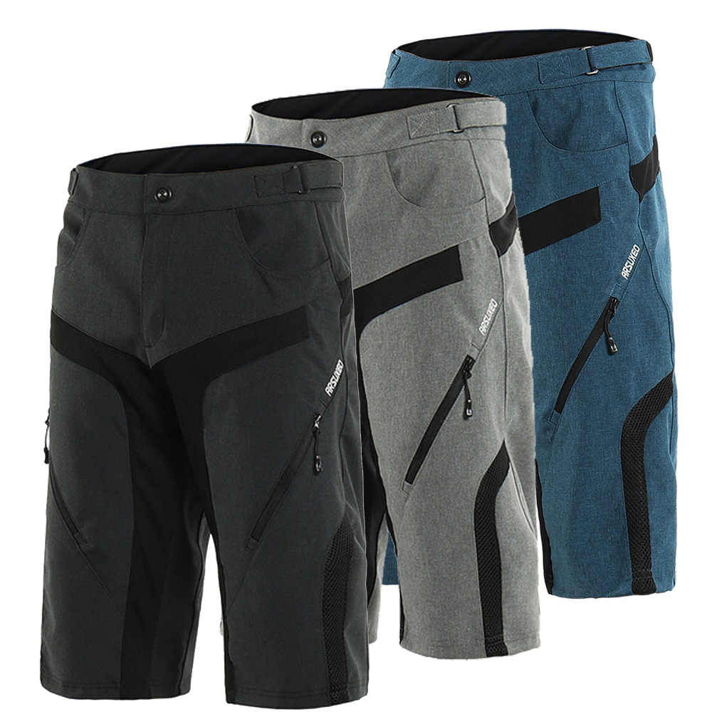 ARSUXEO Downhill Mtb Shorts Men Breathable Cycling Shorts Summer Bicycle  Mountain Bike Shorts Male Short Five 1555957f1
