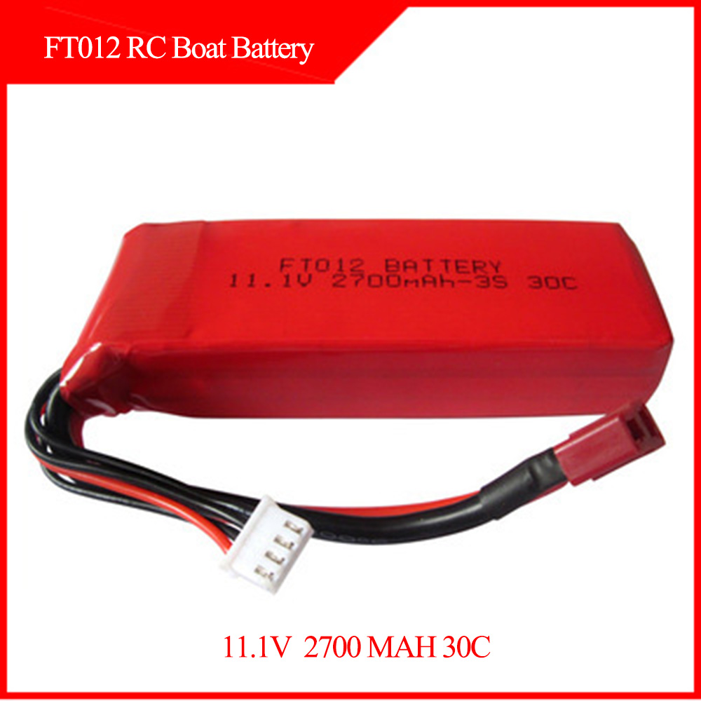 Feilun FT012 RC Boat Spare battery 11.1V 2700MAH 30C Li-PO Battery yukala ft012 2 4g rc racing boat hq734 rc car 11 1v 2700 mah li polymer battery