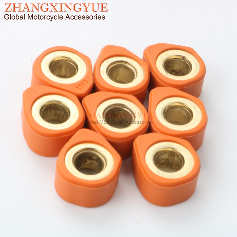 8PC Racing Quality Roller Weights 20x12mm 15.5g For KYMCO Downtown I 300 09-11 Downtown Abs - Abs I 300 10-12