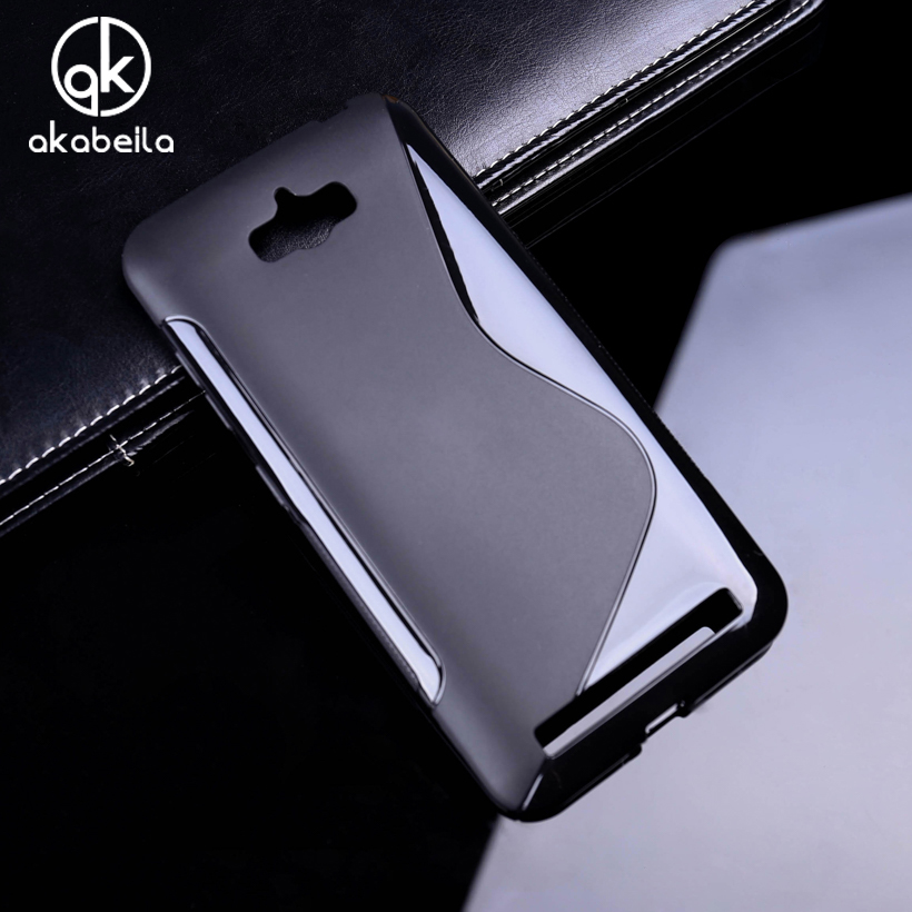 AKABEILA Soft Silicon Phone Covers Cases For ASUS Zenfone MAX Housing Covers ASUS_<font><b>Z010DD</b></font> Z010D ZC550KL Z010DA 5.5 Inch Black image