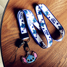 TJHSZKL anime cute cartoon pendant neckline lanyard key certificate gym mobile phone with USB badge holder DIY