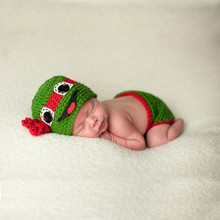 Crochet Ninja Turtles Newborn BABY Boy Photo Set Infant Baby Hat Knitted and Diapers for Photo Prop Cosplay Costume For Children полуботинки tm ninja turtles для мальчика