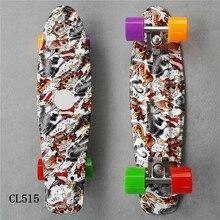 """2"""" дюймов скейтборд-крейсер мини пластик скейт доска Ретро Лонгборд открытый взрослых/детей Графический Galaxy Звездное печатных скейт"""