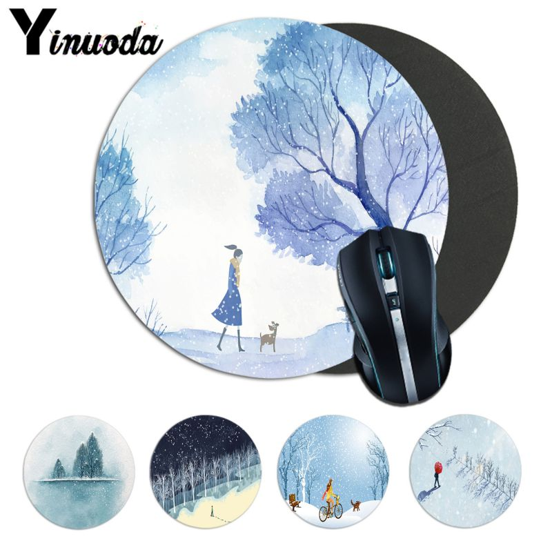 Computer & Office Apprehensive Yinuoda Snow Walking Dog Walks Artworks Natural Rubber Gaming Mousepad Desk Mat Computer Anime Mouse Pad Gamer Play Mats Pleasant To The Palate Mouse & Keyboards