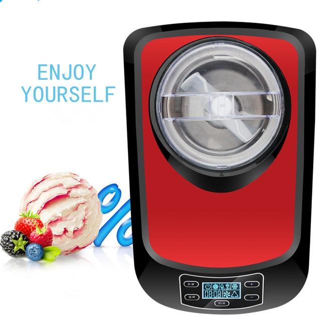 220V Commercial Full-automatic Electric Ice Cream Machine DIY Self-cooling Ice Cream Maker Machine EU/AU/UK/US