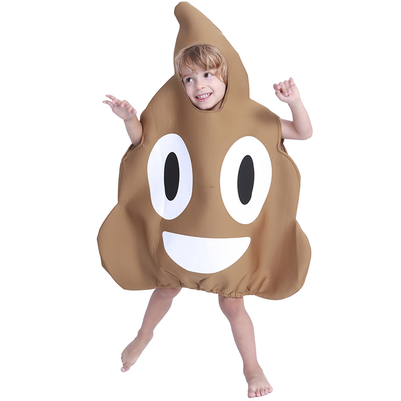 Free shipping 2018 child Halloween Costume sponge stool childre's shit performance suite Halloween cosplay suit JQ-1106