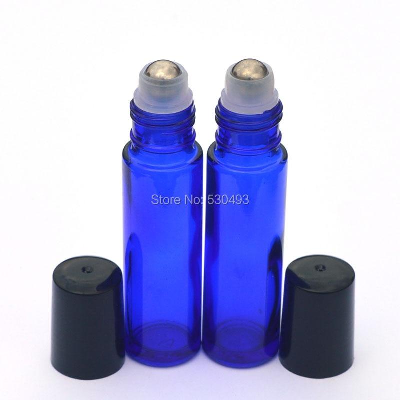 3pcs Hot Perfume Roller Bottle Essential Oil Empty Blue Bottle 10ml Roll-On Sample Glass Bottle 1pc women empty glass perfume essential oil bottle roll on roller mini portable refillable perfume bottle