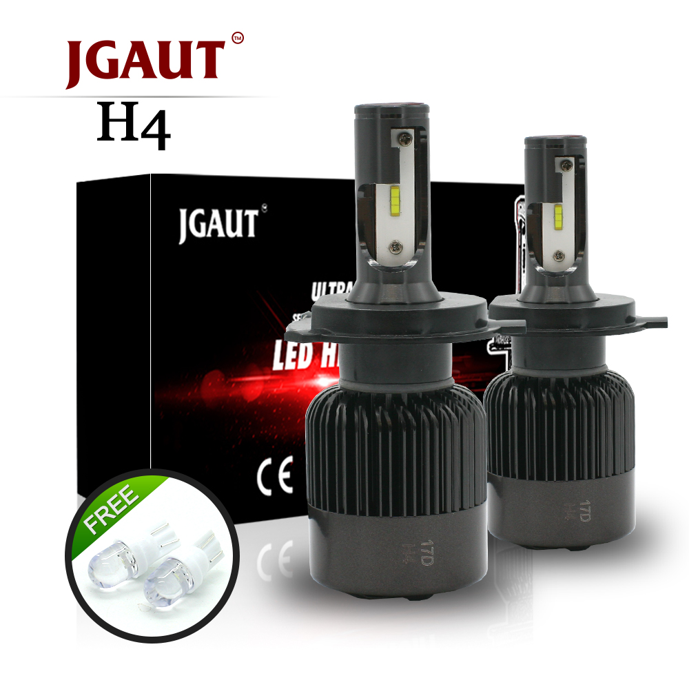 JGAUT T4 16000lm/pair Led Headlight Blubs H7 LED Bulbs Lamp H1 H11 9006 HB4 H8 H9 6000K Auto Light Car Light Lamp h1 7 5w 330 380lm 6500 7500k 5 led white light car foglight pair