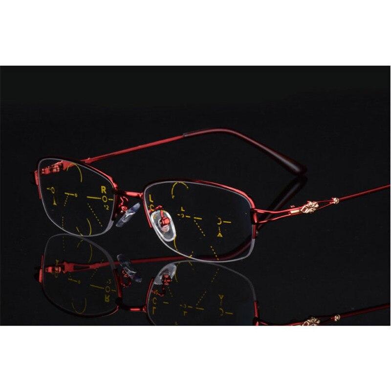 Alta Qualidade Mulheres Óculos de Leitura Leitor Multi-focal da Lente  Bifocal Progressiva Adição Óculos d5c8dc37a7