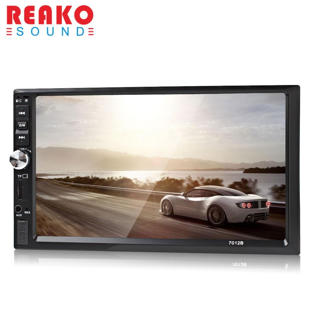 imágenes para REAKOSOUND 7012B Pantalla TFT de 7 Pulgadas Bluetooth Car Audio Estéreo Mp5 de la Ayuda FM AUX USB SD MMC 12 V Auto 2-Din