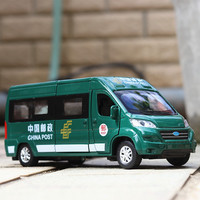 Double Horses 1:32 Scale Diecast Alloy Metal post Car Model For ford fiat The van Collection Model Pull Back children Toys Cars