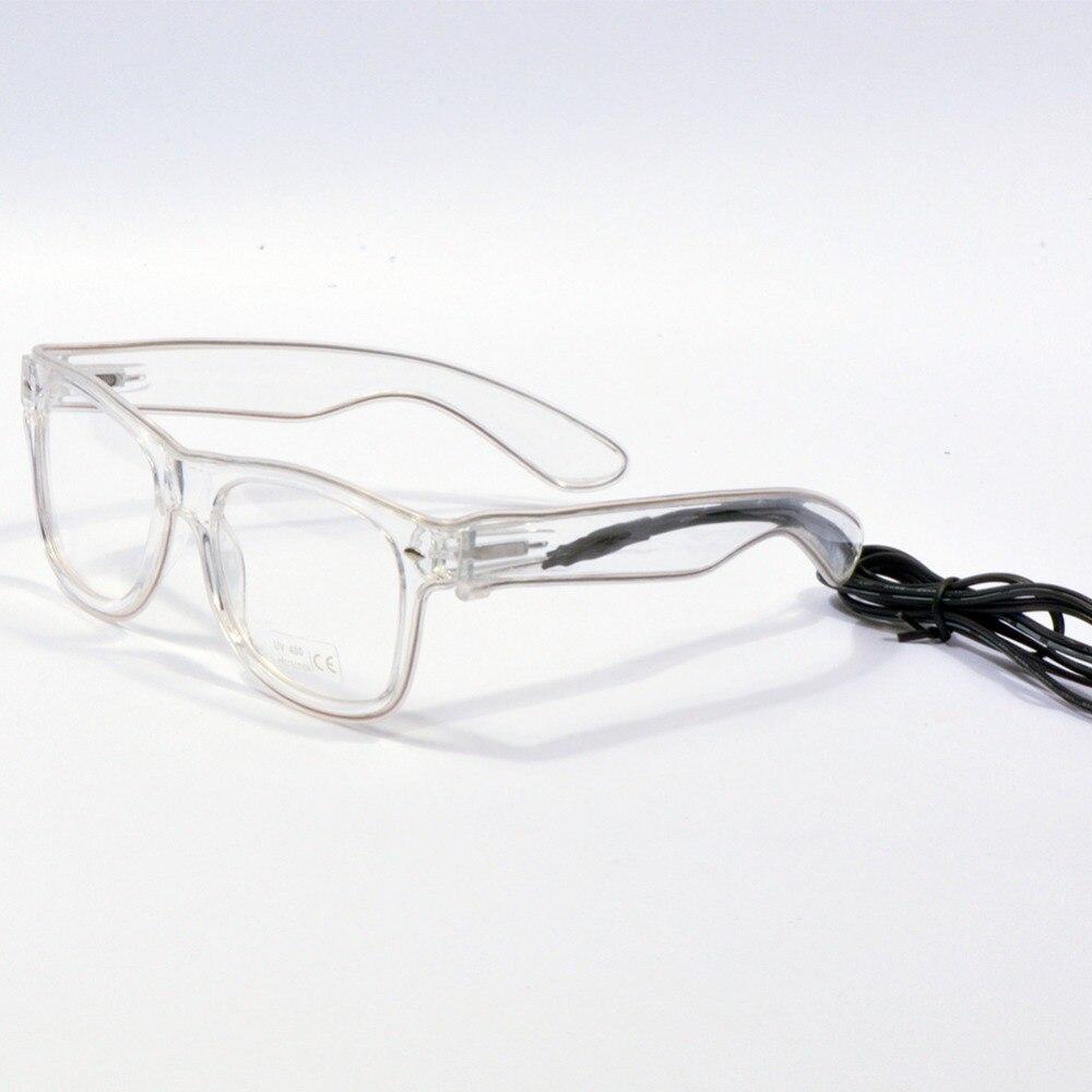 100pcslots light up glasses led rave sunglasses white frame el wire colorful flashing nightclub for festivals dj bright light in sunglasses from womens - White Framed Glasses