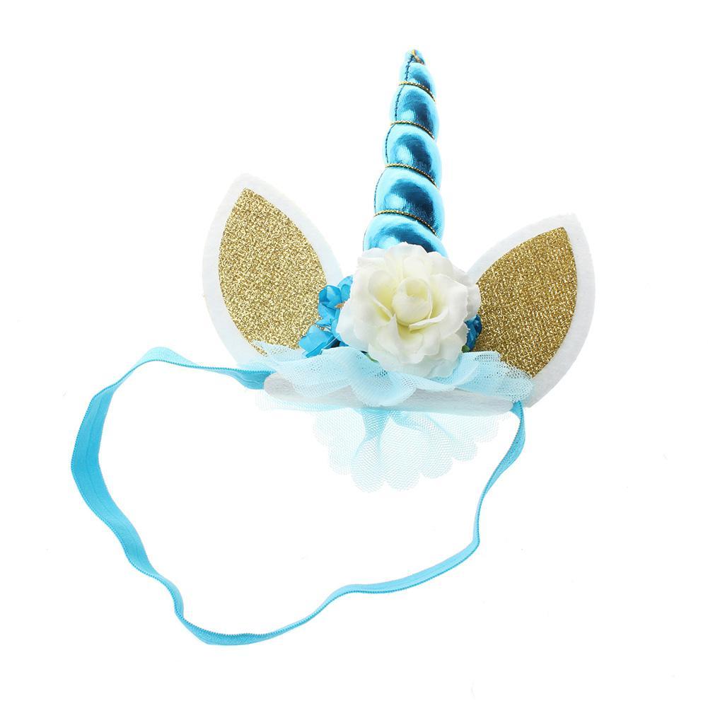 mrwonder New Unicorn Kids Headband Newborn Elastic Unicorn Headband Cute Cartoon Flower Headwear Hair Accessories SAN0