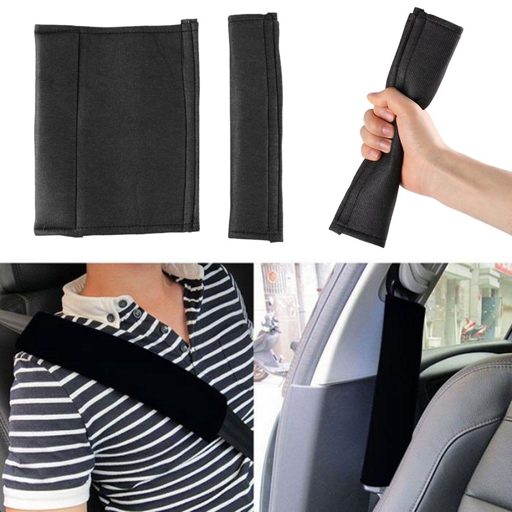 2Pcs Plush Car Seat Belt Shoulder Pads Cover Soft Comfortable Harness Cover Color : Beige