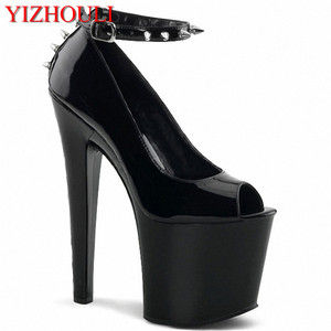 Image 1 - 17cm high documentary shoes Black shoes during sexy supermodels High nightclub shoes with temptation