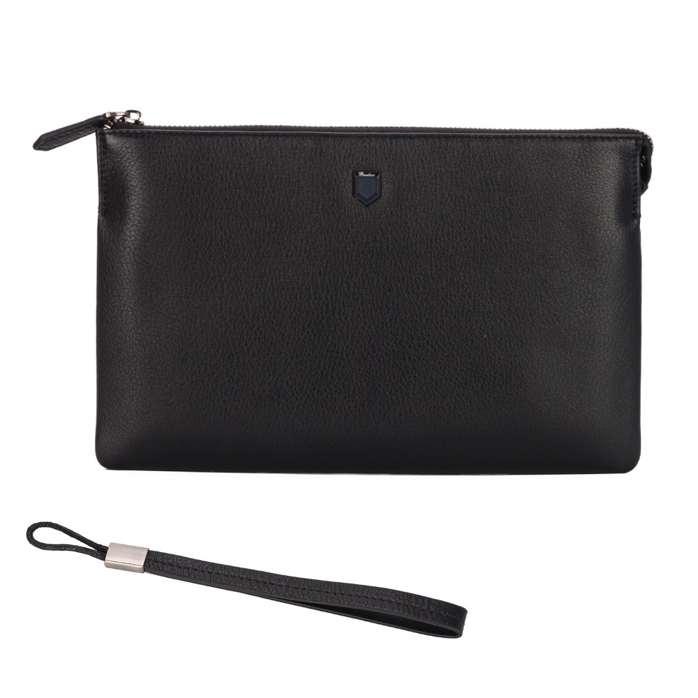 c6a5cdd7c62c Banlear Men Envelope Clutch Handbag Genuine Leather Ipad Bag Business  Zipper Portfolio Large Wristlets Male Clutch Bags BL25129 on Aliexpress.com