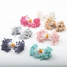 100PCS/Lot Artificial Flowers 7 Colors Plastic Fake Stamen DIY Flower Home Any Festivals Handmade Decoration 19620