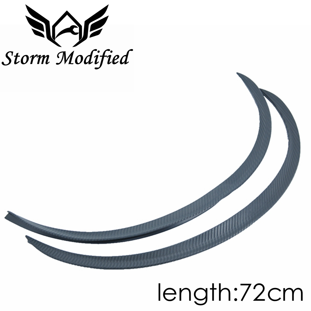 SuTong 1 Pair Carbon Fiber Style Fender Flare Wheel Lip Body Kit Universal 72CM For Car Mudguard Mud Guard Auto Accessories