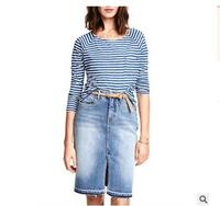 Elegant Womens Slit High Waist Summer Skirts Jeans Denim Skrit Mini Skirt Washed Fashion Ladies Skirts