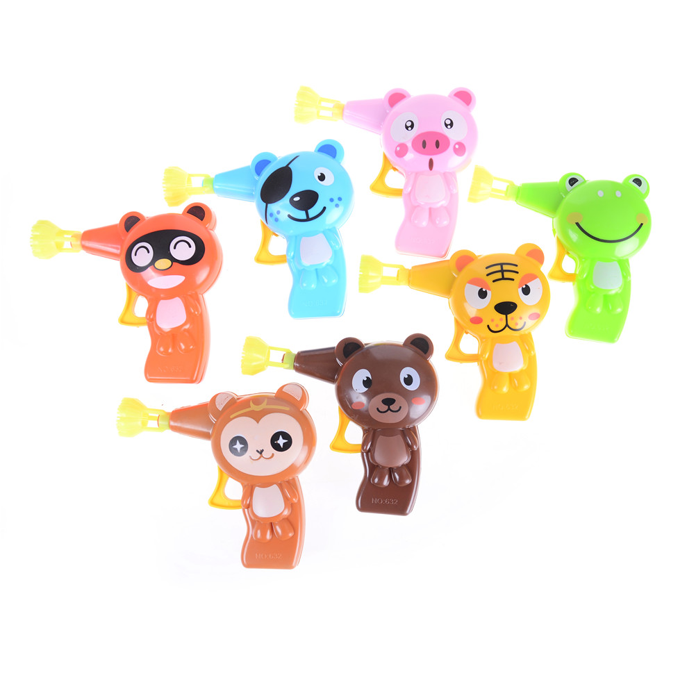 Cartoon Animal Soap Water Bubble Gun For Kid Outdoor Lovely Toys Children Blowing Bubbles Toy Manual Bubble Gun blower