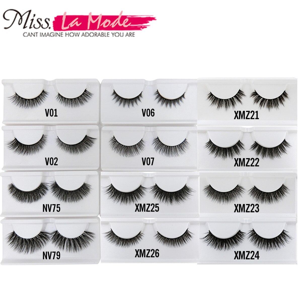 MISSLAMODE Fake Eyelashes Natural 3d Mink Lashes Strip Eyelash Extensions  Crossing False Eyelashes Natural Long Makeup Tools