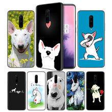 Bull Terrier Dog Puppies Soft Black Silicone Case Cover for OnePlus 6 6T 7 Pro 5G Ultra-thin TPU Phone Back Protective
