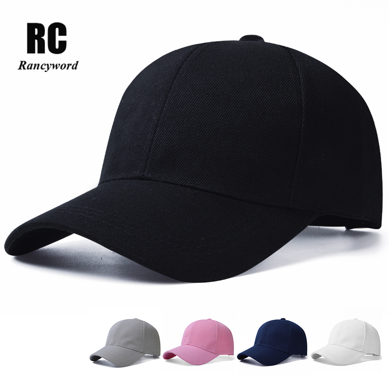 [Rancyword] Solid Branded Baseball Caps Unisex Summer Sun Cap Women Bone Hip Hop Sun Hats Cotton Lady Baseball Cap Pink RC1122 feitong summer baseball cap for men women embroidered mesh hats gorras hombre hats casual hip hop caps dad casquette trucker hat