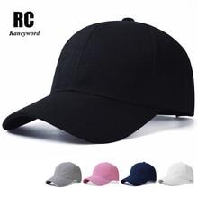 [Rancyword] Hot Sale Solid Branded Baseball Caps Unisex Summer Sun Cap Women Men Bone Hip Hop Hats Cotton Lady RC1121