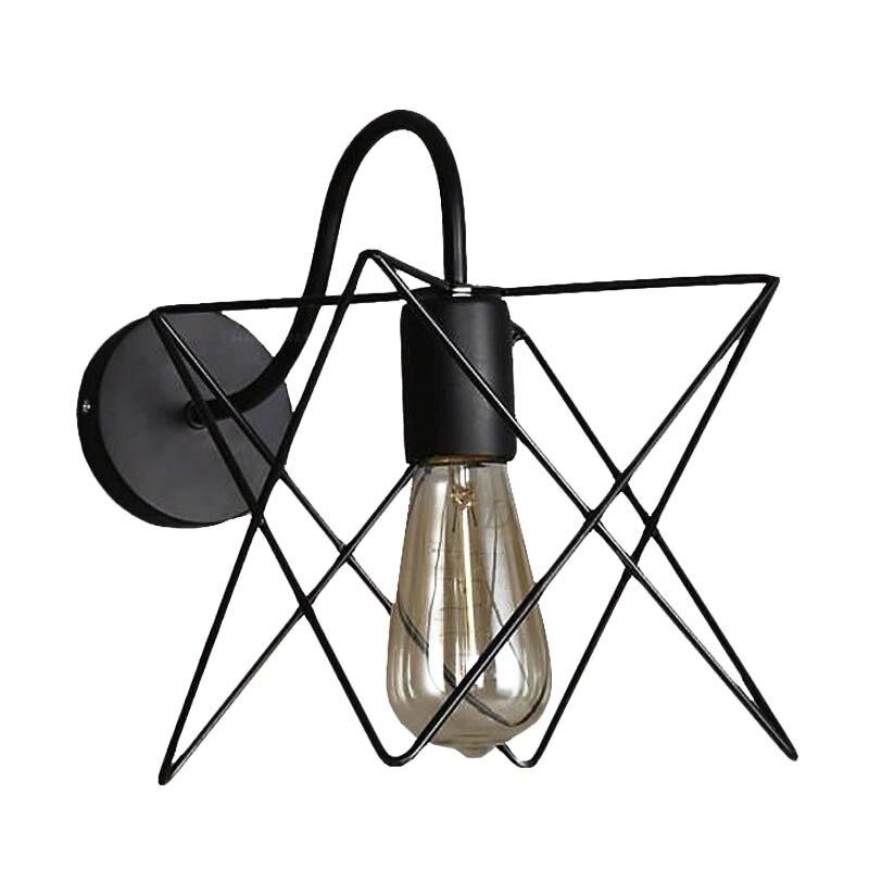 Brand New Vintage Iron Cage Wall Lamp Retro Loft Corridor Stairs Lamp Light Bathroom Bat ...