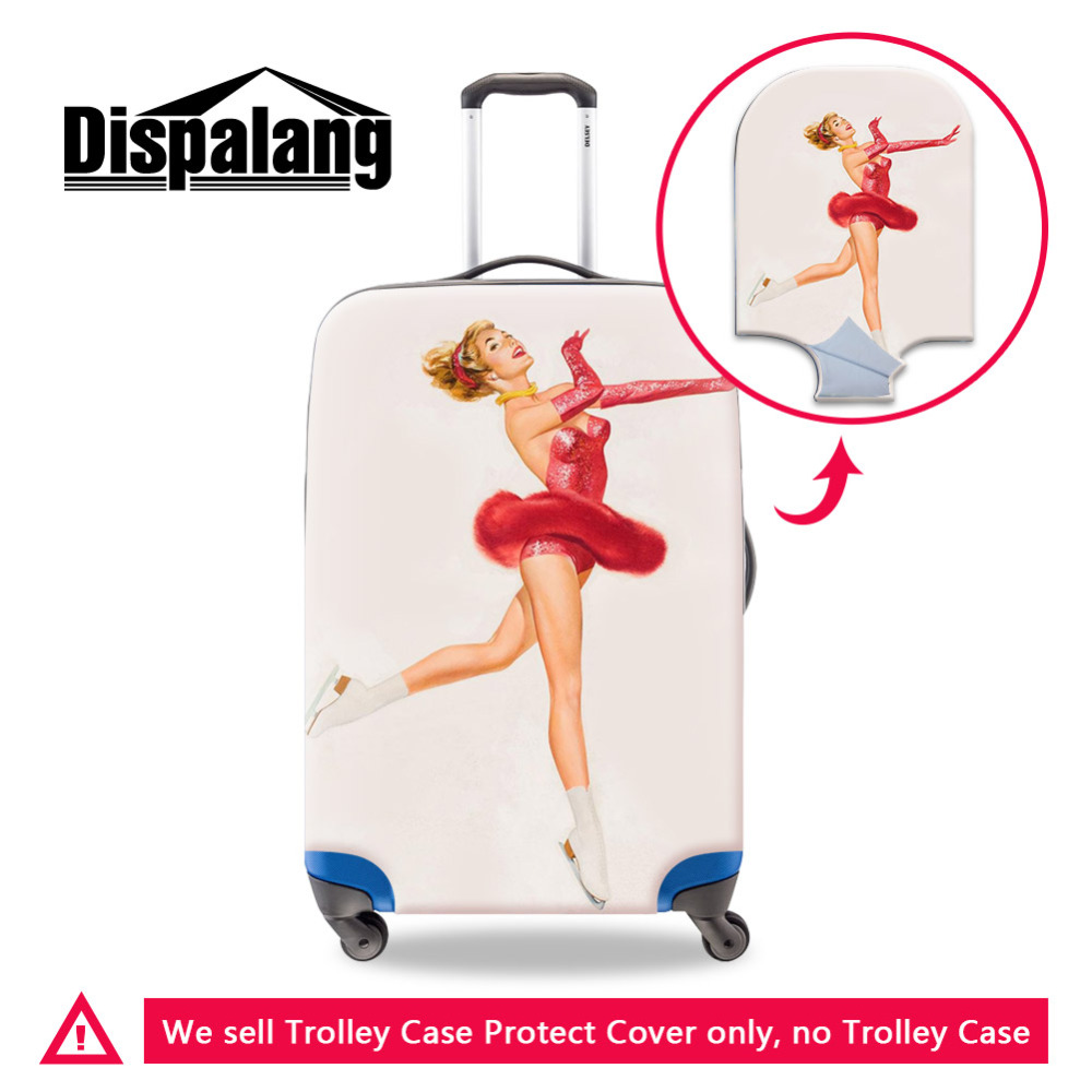 Dispalang Case On Suitcase Travel On Road Luggage Protective Cover For 18~30 Inch Trolley Case Fancy Skating Women Luggage Cover